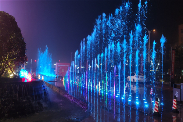 Dry Floor Music Dancing Fountain And Interactive Laminar Fountain, China