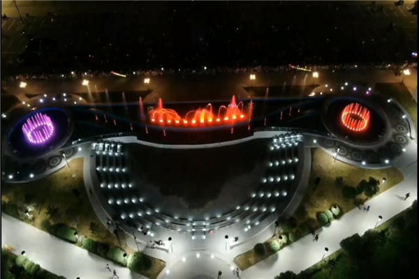 Large Music Fountain And Laser Show, Mongolia