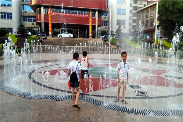 Yizhang County Government Square Dry Floor Musical Water Fountain, China
