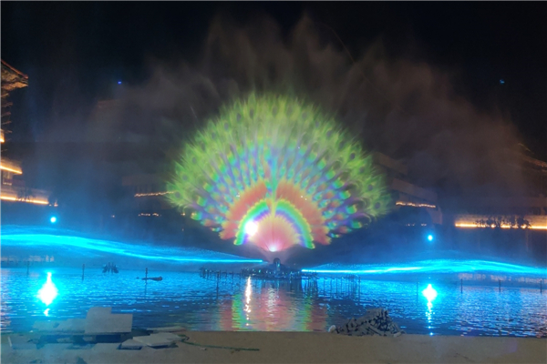 Water Show With Laser And Water Screen Movie, Nanchang China, 2021