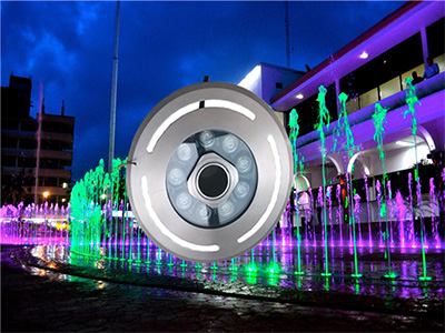 multicolor LED lights for musical fountain show