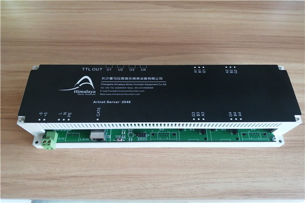 DMX server for water fountain show control
