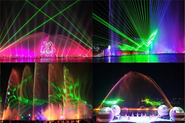 laser show water screen projection music fountain control system