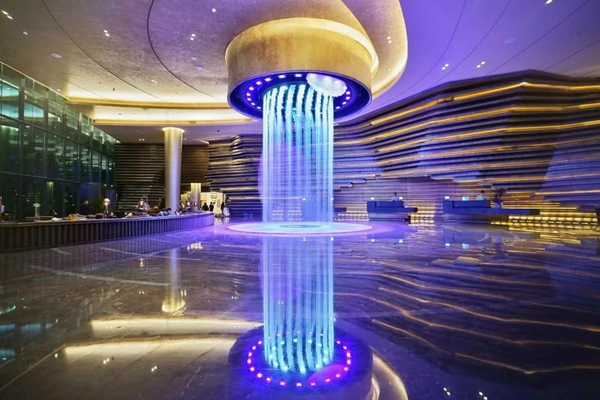 indoor graphical waterfall digital water curtain