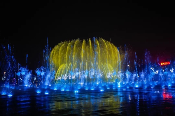 MUSIC FOUNTAIN WITH 3d DIGITAL ROTARY NOZZLE