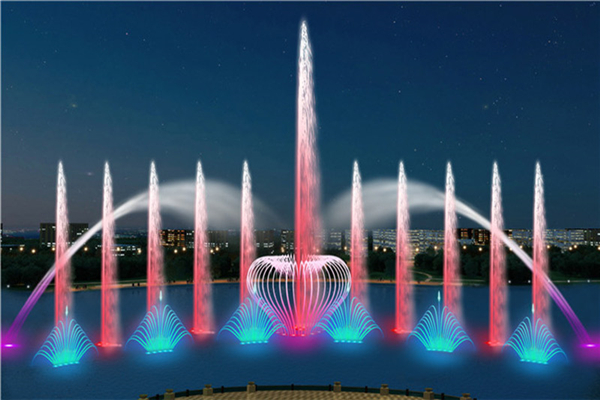 large music fountain show water show design
