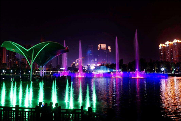 Dishui Lake Music Fountain with Water Screen Laser Projection