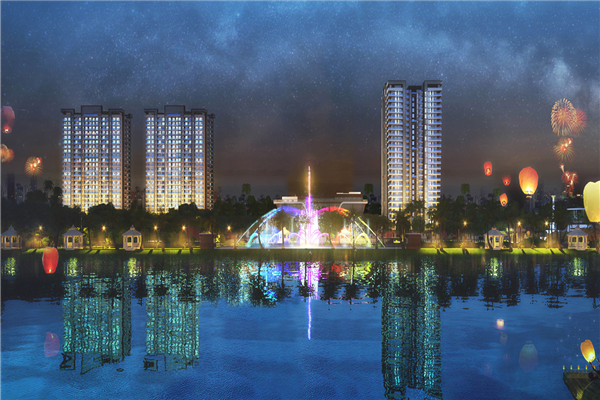 Adani Floating Musical Fountain Project in India