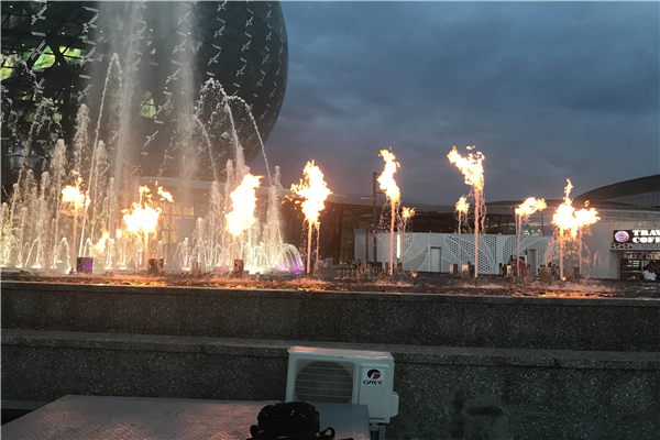 fire on water fire torch fountain quipment