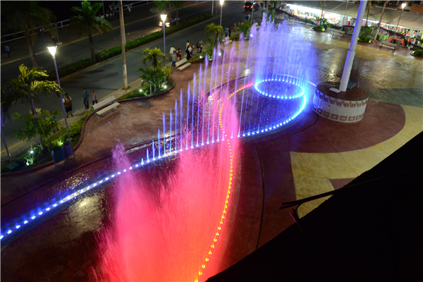 135*18M Dry Ground Fountain Under Floor Dancing Water Fountain In Mexico