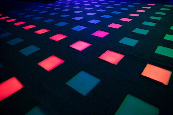 inteactive fountain tiles with led lighting